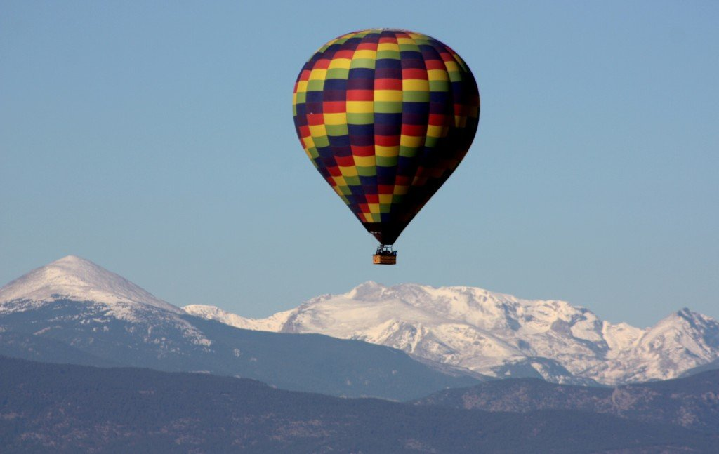 Hot Air Balloon Rides over Colorado's Front Range Mountains
