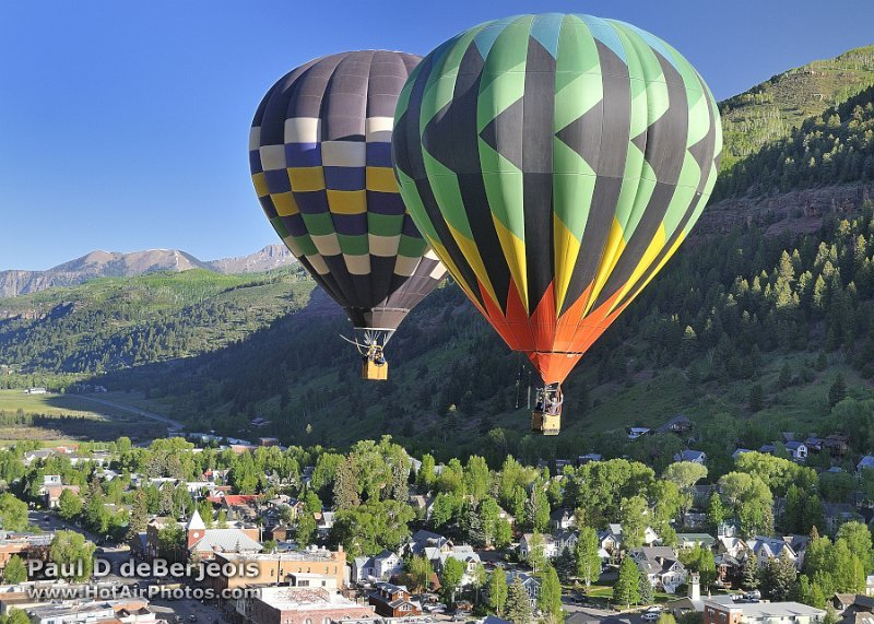 Hot Air Balloons over Summit County Colorado