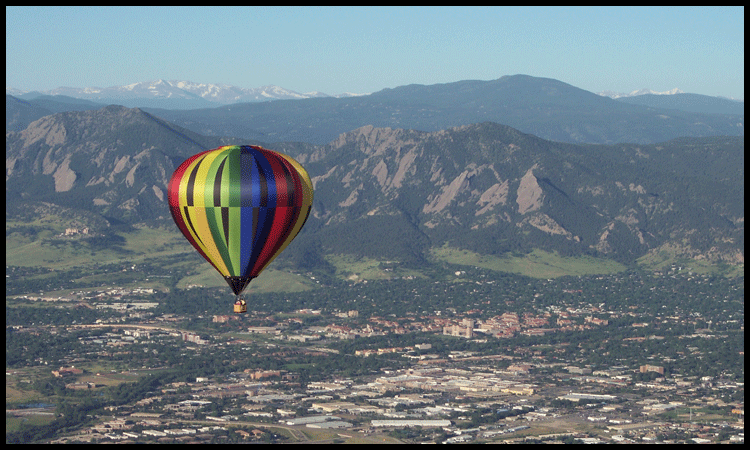 Boulder Flatirons with Hot Air Balloon Rides Colorado