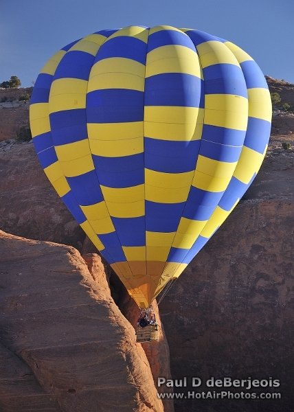 Hot Air Balloon Adventure through the desert canyon