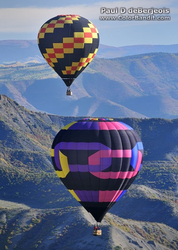 Mountains and Hot Air Ballooning
