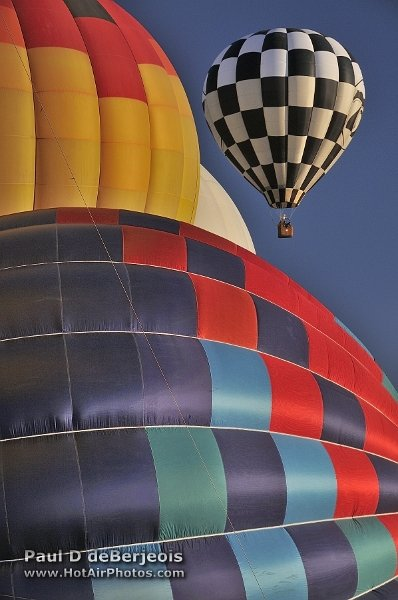 Unique view of balloons inflating in Reno.