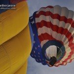Hot Air Balloons inflating in Reno