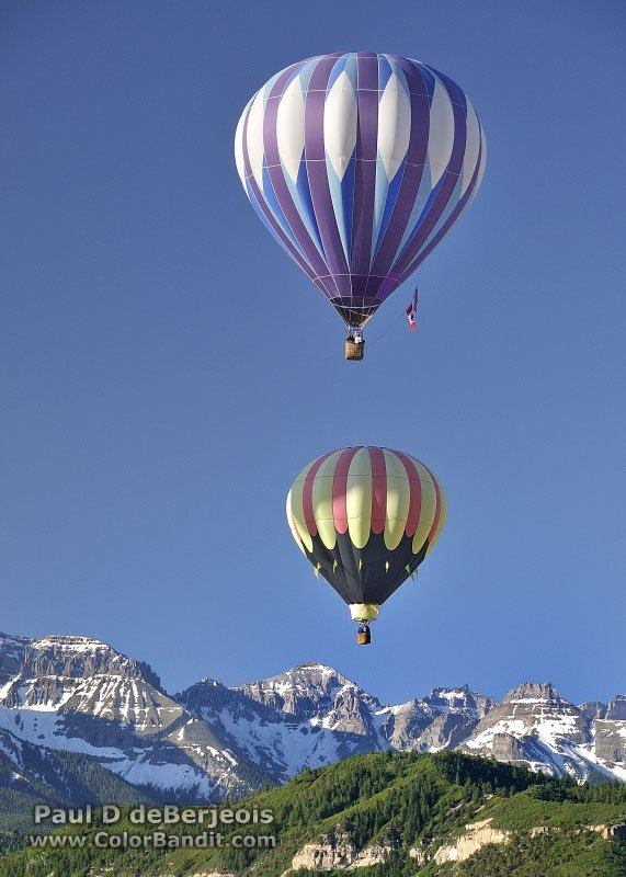 Hot Air Balloon ride over Ridgeway Colorado