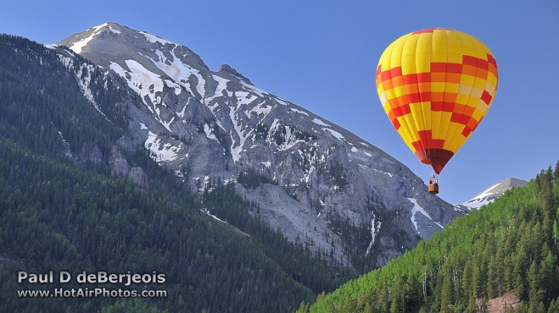 Hot Air Balloons in the Rocky Mountains Colorado