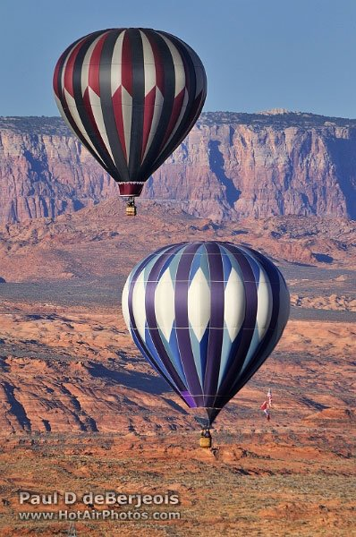 Two Hot Air Balloons over the desert